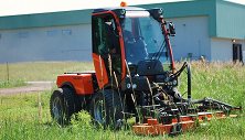 Holder C270 tractor with rotary mower