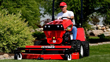 Steiner 440 compact tractor with rotary mulching mower