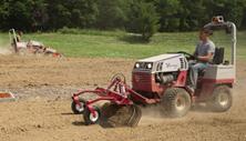 Ventrac 4500 with landscape rake