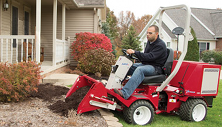 Ventrac 3400 compact tractor with landscaping power bucket