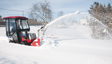 Ventrac 4500 with heated cab and snow blower