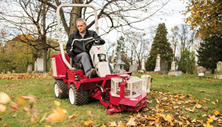 Ventrac 3400 compact tractor with debris blower