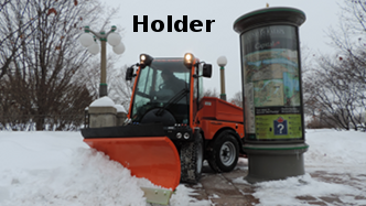 Holder compact tractor with snow plow blade