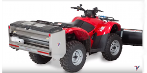 Ventrac drop spreader de-icer