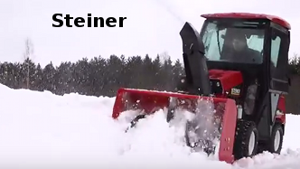 Steiner compact tractor with snowblower