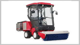 Ventrac 3400 Compact Tractor - Cab - snow broom. Click image for specs.