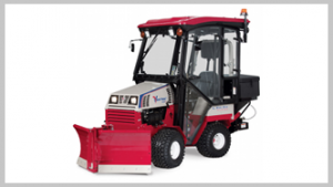 Ventrac 4500 tractor with Optional Cab. Click image for specs.