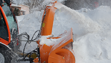 Holder tractor with Kahlbacher snow blower.