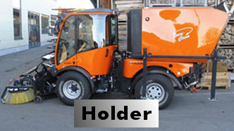 Holder with vacuum sweeper