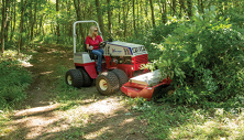 Ventrac rough cut mower clears parks trail. Click image for details.
