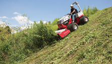 Ventrac rough cut mower on 30 degree slope. Click image for details.