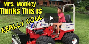 Mrs. Dirt Monkey thinks the Ventrac aera-vator is really cool!