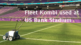Fleet Kombi athletic field painter used at US Bank Stadium - Minneapolis. Click image for details.