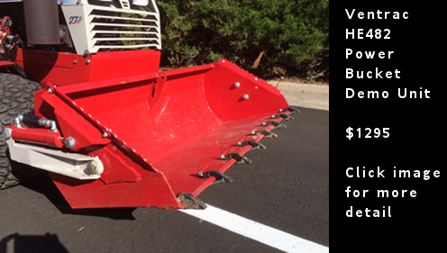 Ventrac HE482 Power Bucket Demo Unit. Click image for more detail.
