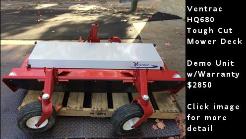 Ventrac HQ680 Tough Cut Mower Deck- Demo Unit. Click image for more detail.