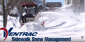 Sidewalk snow management systems from Ventrac