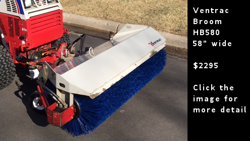 Used Ventrac Broom - 58 inch wide - HB580. Click the image for more details.