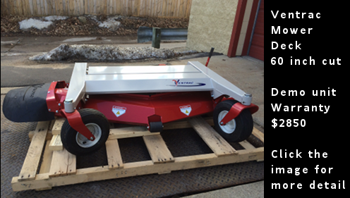 Used Ventrac Mower Deck - 60 inch wide cut - HM602. Click the image for more details.