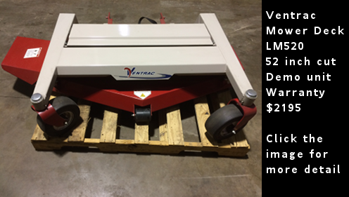 Used Ventrac Mower Deck LM520 - 52 inch wide cut. Demo Unit. Click the image for more detail