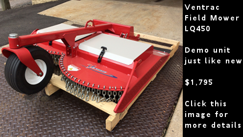 Ventrac LQ450 Field Mower - Demo unit just like new - click this image for more details.