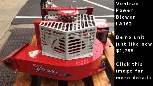 Ventrac LA162 Power Blower. Demo unit just like new. Click this image for more details.