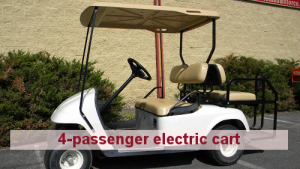 Cushman Motors Minneapolis rents 4-passenger electric carts