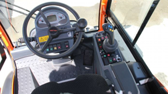 Holder C70 cabin and operator controls. Click image for more details