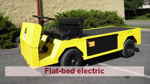 Cushman Motors Minneapolis rents industrial flat bed electric vehicles