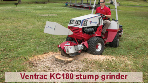 Cushman Motors Minneapolis rents Ventrac attachments like stump grinders