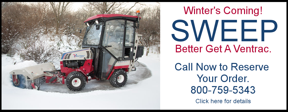 Winter's Coming - Better Get a Ventrac compact tractor from Cushman Motor Company in Minneapolis