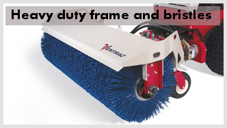 Ventrac HB580 broom's heavy duty frame and bristles