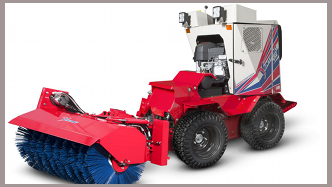 Ventrac SSV with the NJ380 broom attachment. Click for more detail.