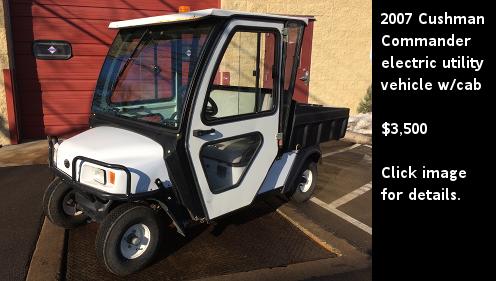 Used 2007 Cushman Commander electric utility vehicle