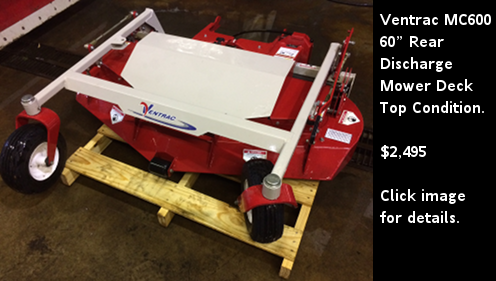 """Used Ventrac MC600 60"""" Rear Discharge Mower Deck"""