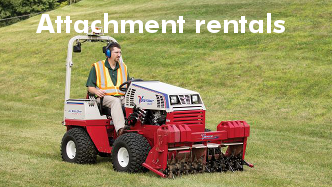 Cushman rents compact tractor attachments