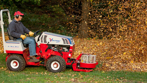 Cushman Motors rents compact tractor attachments like this blower