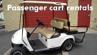 Cushman rents passenger carts
