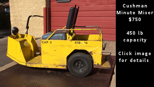 Used Cushman Minute Miser - $750 - Click image for details