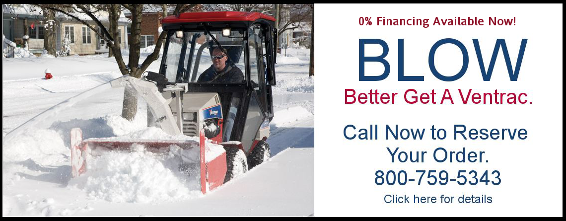 Winter is here – better get a Ventrac snow blower
