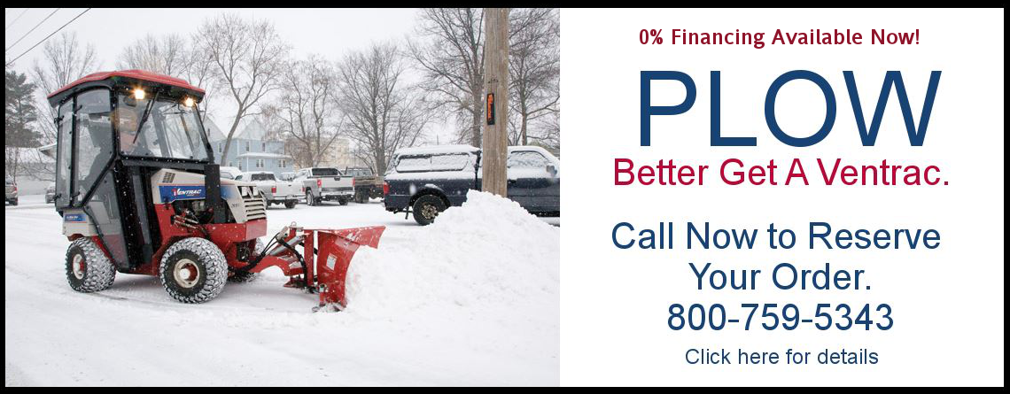 Winter is here – better get a Ventrac snow plow