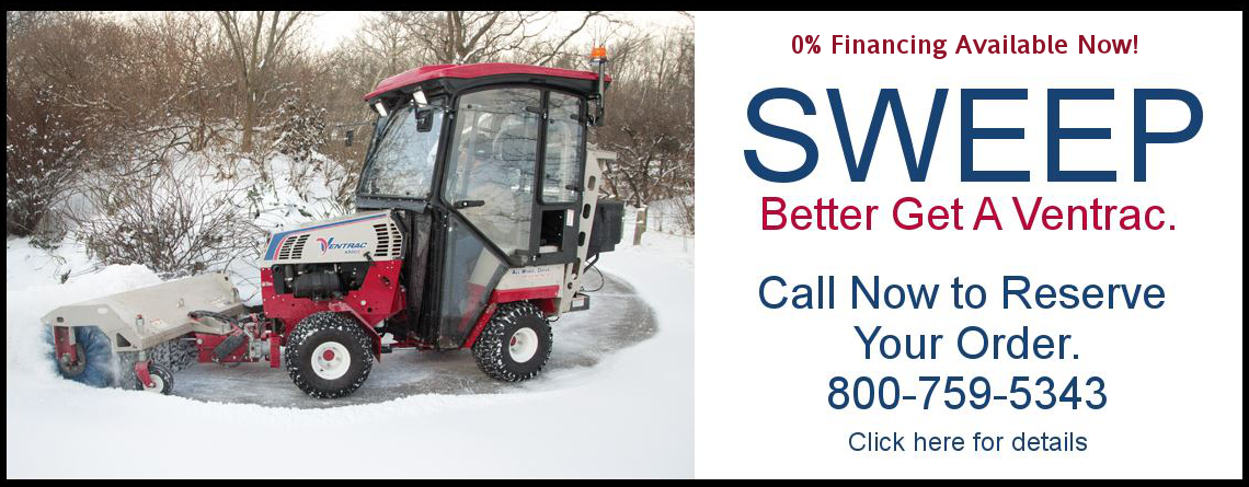 Winter is here better get a Ventrac snow broom