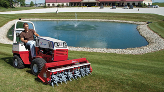 All season compact tractors aerate