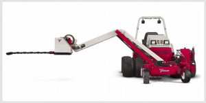 Ventrac boom mower extends your capabilities. Click for specs.