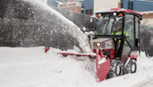 Ventrac 4500 compact tractor with KX523 Snow Blower