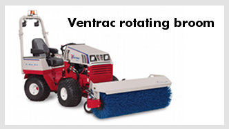 Ventrac rotating broom
