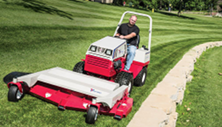 Ventrac tractor mower attachment produces great striping