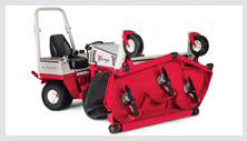 Ventrac tractor mower attachment - flip deck for easy maintenance