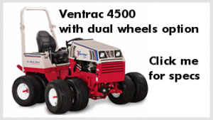 Ventrac 4500 compact tractor with dual wheels option