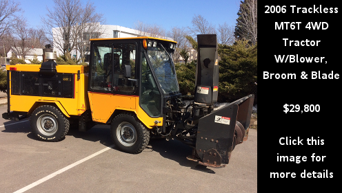 Used 2006 Trackless MT6T 4WD Tractor with snowblower, broom and v-blade. Click this image for more details.