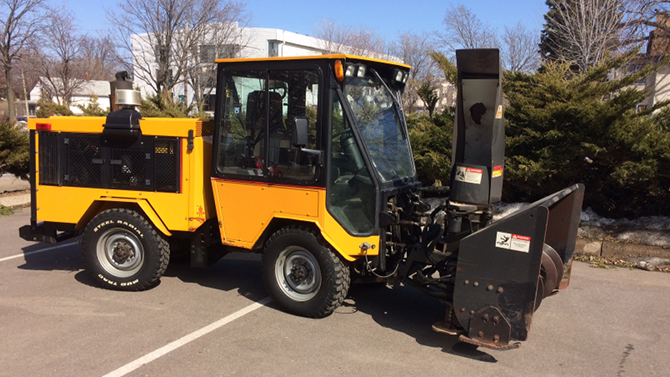 Used 2006 Trackless MT6T 4WD Tractor with snowblower, broom and v-blade